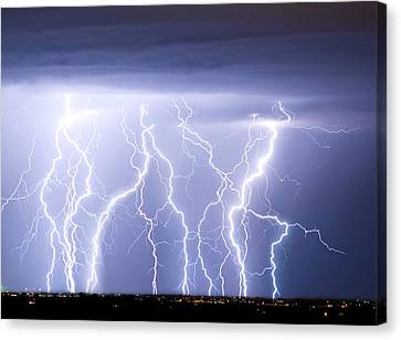 Crazy Skies Canvas Print by James BO  Insogna
