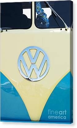 Front End Canvas Print - Cream And Blue  by Tim Gainey
