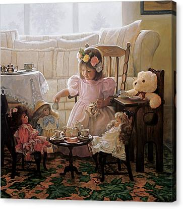 Tea Party Canvas Print - Cream And Sugar by Greg Olsen