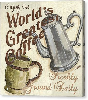 Cream Coffee 1 Canvas Print by Debbie DeWitt