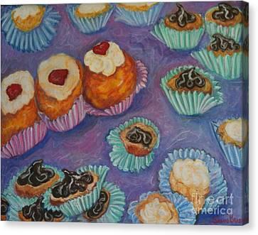 Cream Puffs Canvas Print by Sherri Bramlett