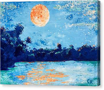 Creamsicle Moon Canvas Print