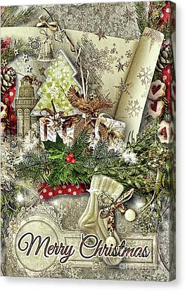 Canvas Print - Creamy Christmas by Mo T