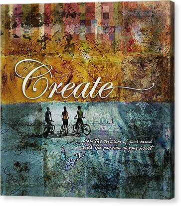 Imagination Canvas Print - Create by Evie Cook