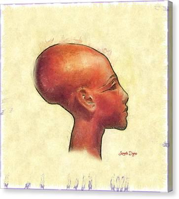 Created Mankind In His Own Image - Da Canvas Print by Leonardo Digenio