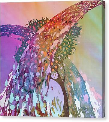 Creation Of An Orange Tree Canvas Print by Kate Krivoshey