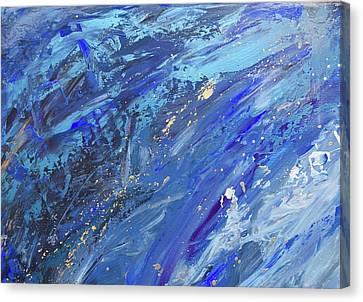 Silver Turquoise Canvas Print - Creation Of The Universe by Laurie Hein