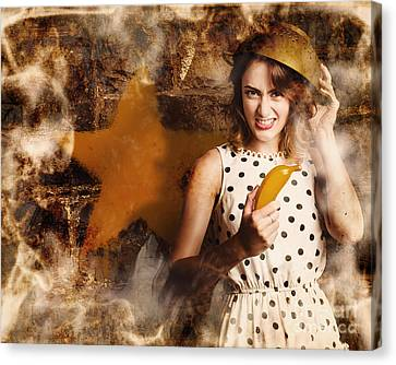 Creative Cooking Pin-up Canvas Print