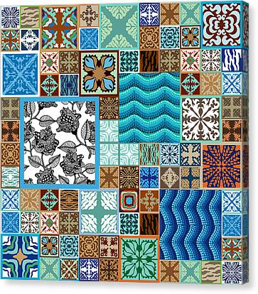 Creative Mosaic Collage Canvas Print