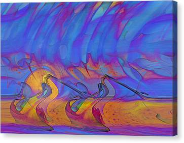 Canvas Print featuring the digital art Creative Motion by Linda Sannuti