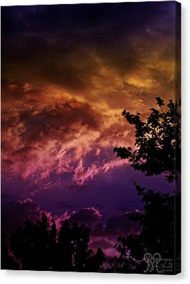 Canvas Print featuring the photograph Creative Sunset by Karen Musick