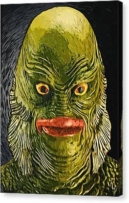 Creature From The Black Lagoon Canvas Print by Taylan Apukovska