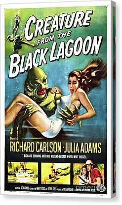 Creature Of The Black Lagoon Canvas Print
