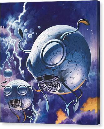 Creatures In Outer Space  Canvas Print by Wilf Hardy