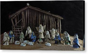 Creche Sraight On View Canvas Print by Nancy Griswold
