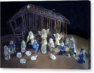 Creche Top View  Canvas Print by Nancy Griswold