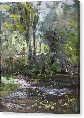 Creek At Three Sisters Islands Canvas Print by Ylli Haruni