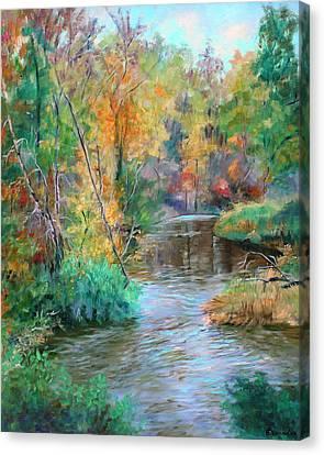 Creek At Whitney Point  Ny Canvas Print by Ethel Vrana