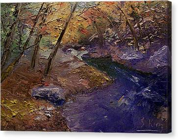 Creek Bank Canvas Print