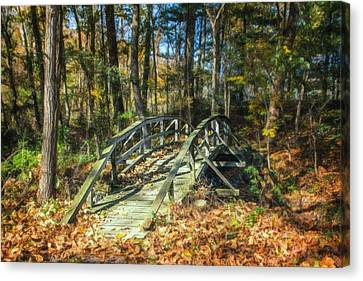 Creek Crossing Canvas Print by Tom Mc Nemar