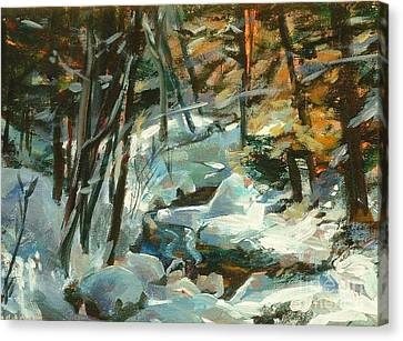 Creek In The Cold Canvas Print