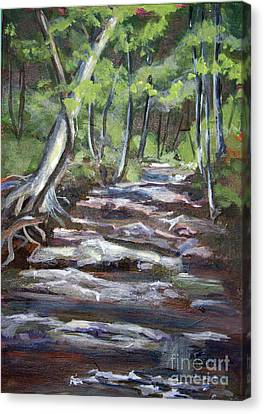 Creek In The Park Canvas Print by Janet Felts