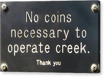 Creek Sign Canvas Print