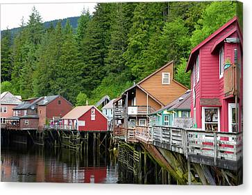Creek Street Ketchikan Alaska Canvas Print by Barbara Snyder