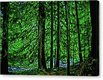 Creekside Forest Canvas Print