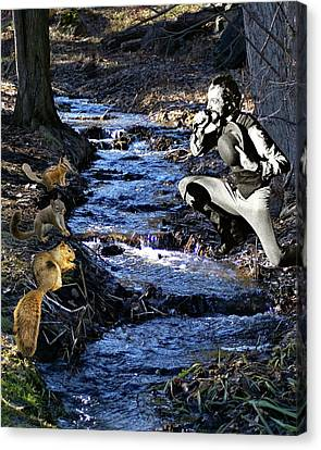 Canvas Print featuring the photograph Creekside Serenade By Ian by Ben Upham