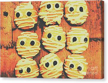 Creepy And Kooky Mummified Cookies  Canvas Print