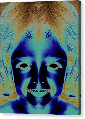 Creepy Daughter 2 Canvas Print by Tisha Beedle