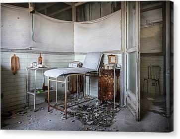 Creepy Exammination Room - Abandoned School Building Canvas Print by Dirk Ercken