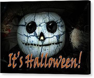 Creepy Halloween Pumpkin Canvas Print