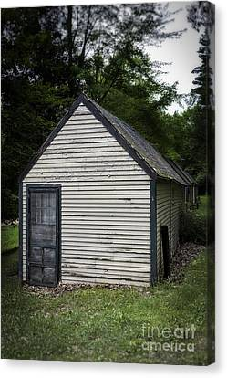 Creepy Old Cabins Canvas Print by Edward Fielding