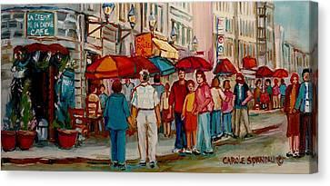 Creme De La Creme Cafe Canvas Print by Carole Spandau