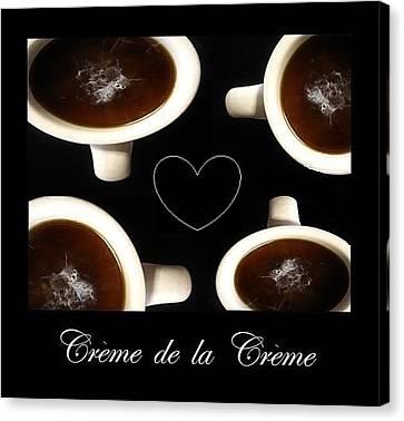 Culinary Canvas Print - Creme De La Creme  by Mary Ellen Frazee