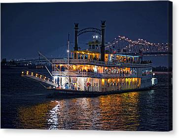 Creole Queen Riverboat Canvas Print by Bonnie Barry