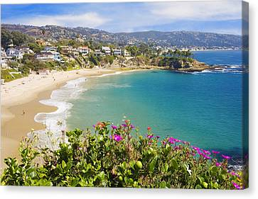 Vista Canvas Print - Crescent Bay Laguna Beach California by Utah Images