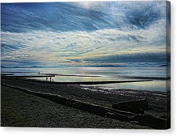 Crescent Beach At Dusk Canvas Print by Lawrence Christopher