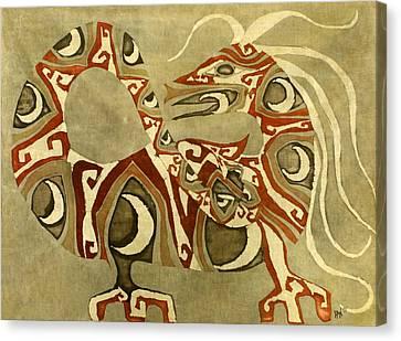 Crescent Dragon Canvas Print