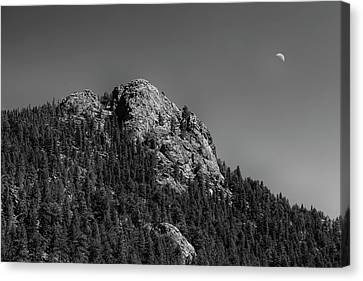 Canvas Print featuring the photograph Crescent Moon And Buffalo Rock by James BO Insogna
