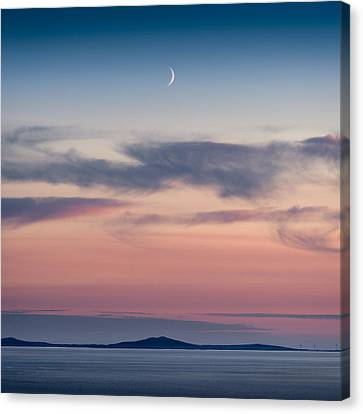 Crescent Moon Over North Uist Canvas Print