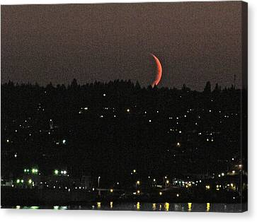 Crescent Moonset Canvas Print by Sean Griffin