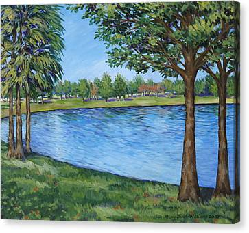 Crest Lake Park Canvas Print by Penny Birch-Williams
