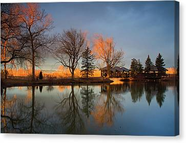 Canvas Print featuring the photograph Cresting Sunlight by John De Bord