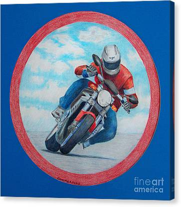 Cresting The Hill - Agusta Brutale Canvas Print