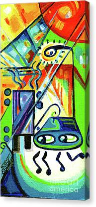 Creve Coeur Streetlight Banners Whimsical Motion 7 Canvas Print by Genevieve Esson