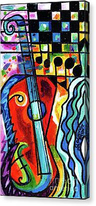 Creve Coeur Streetlight Banners Whimsical Motion 10 Canvas Print by Genevieve Esson