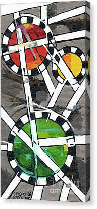 Creve Coeur Streetlight Banners Whimsical Motion 14 Canvas Print